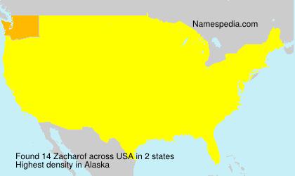 Surname Zacharof in USA