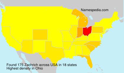 Surname Zachrich in USA
