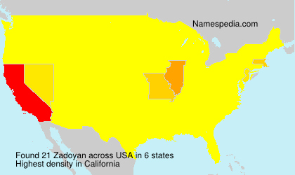 Surname Zadoyan in USA