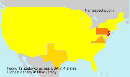 Surname Zadoyko in USA