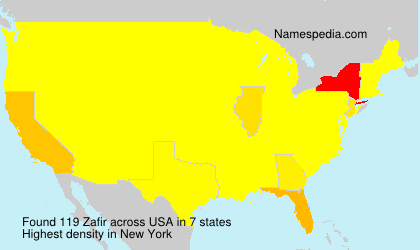 Surname Zafir in USA