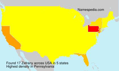 Surname Zafrany in USA