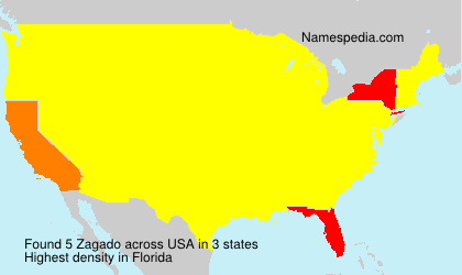 Surname Zagado in USA