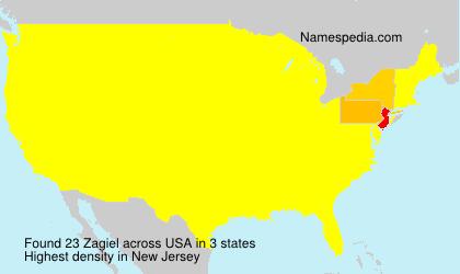 Familiennamen Zagiel - USA