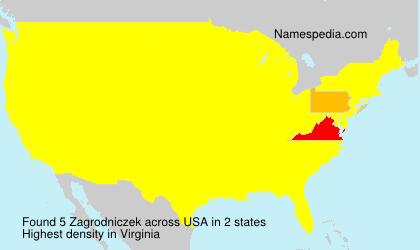 Surname Zagrodniczek in USA