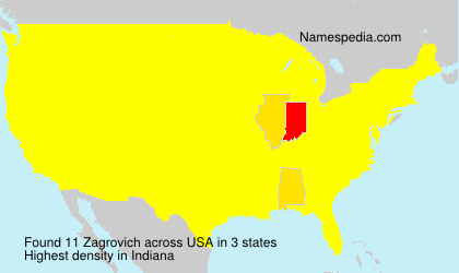 Surname Zagrovich in USA