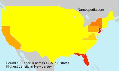 Surname Zaharuk in USA