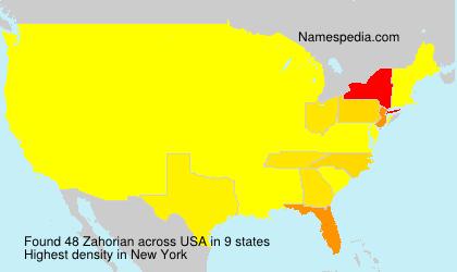 Surname Zahorian in USA