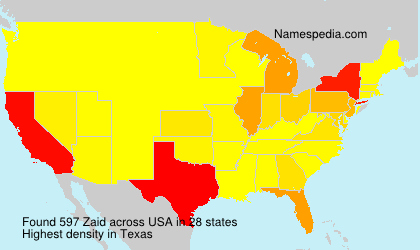 Surname Zaid in USA