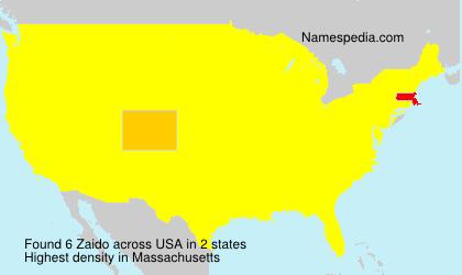 Familiennamen Zaido - USA
