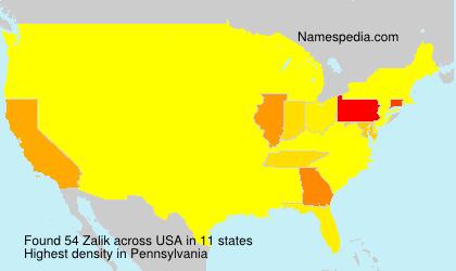 Familiennamen Zalik - USA