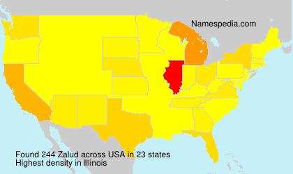 Surname Zalud in USA