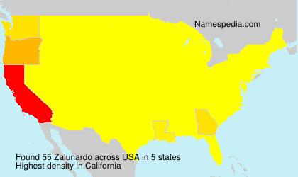Surname Zalunardo in USA
