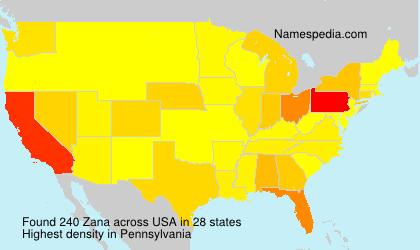 Surname Zana in USA