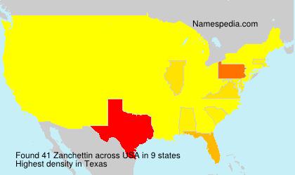 Surname Zanchettin in USA