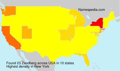 Surname Zandberg in USA