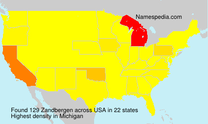 Surname Zandbergen in USA