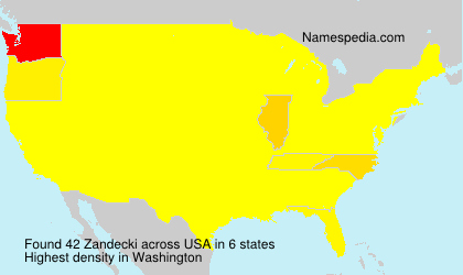 Familiennamen Zandecki - USA