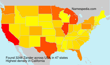 Surname Zander in USA