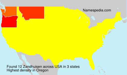 Familiennamen Zandhuisen - USA