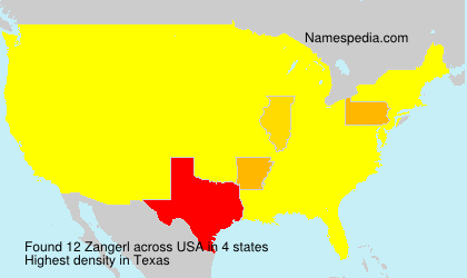 Surname Zangerl in USA