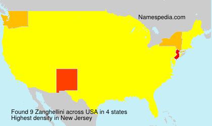 Surname Zanghellini in USA