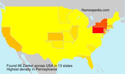 Familiennamen Zankel - USA