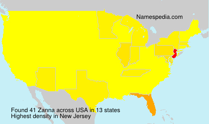 Surname Zanna in USA
