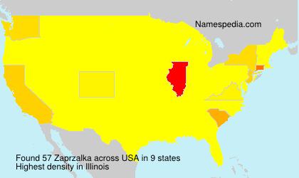 Familiennamen Zaprzalka - USA