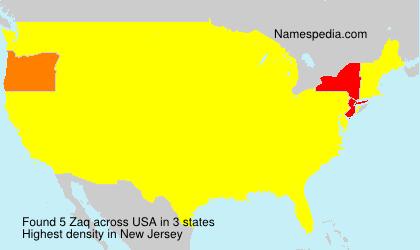 Surname Zaq in USA