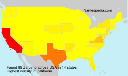 Surname Zarceno in USA