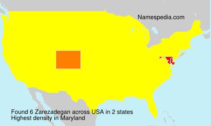 Surname Zarezadegan in USA
