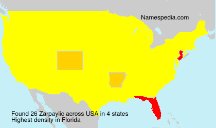 Surname Zarpaylic in USA