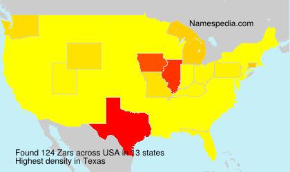 Surname Zars in USA