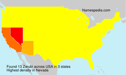 Surname Zarubi in USA