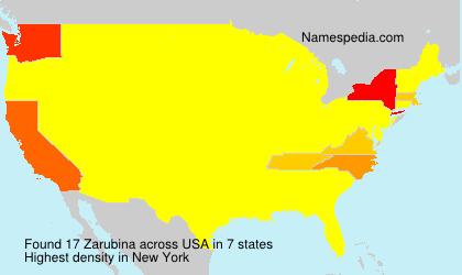 Familiennamen Zarubina - USA
