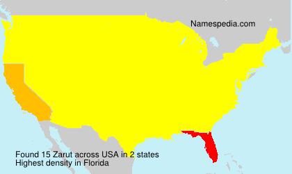 Surname Zarut in USA