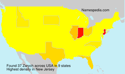 Surname Zarych in USA