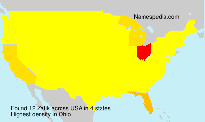 Surname Zatik in USA