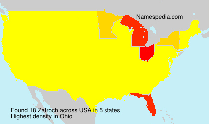 Surname Zatroch in USA