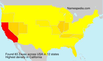 Surname Zauss in USA