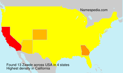 Surname Zawde in USA