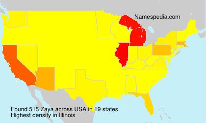 Familiennamen Zaya - USA