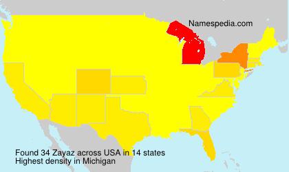 Surname Zayaz in USA