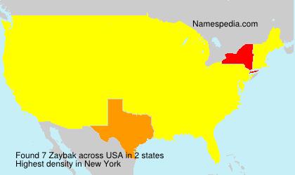 Familiennamen Zaybak - USA