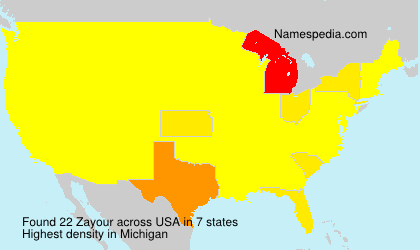 Surname Zayour in USA
