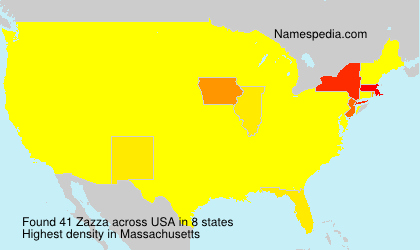 Surname Zazza in USA