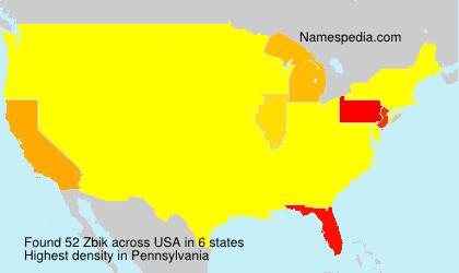 Surname Zbik in USA