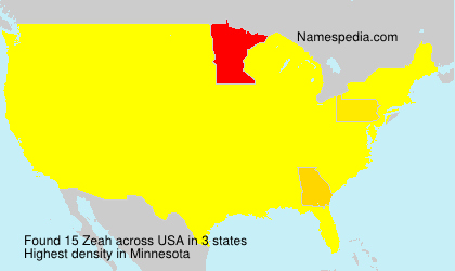 Surname Zeah in USA