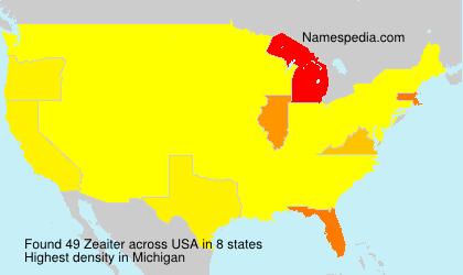 Surname Zeaiter in USA